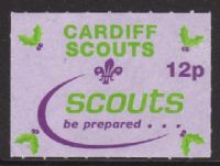 Cardiff Scouts 2001 12p unused